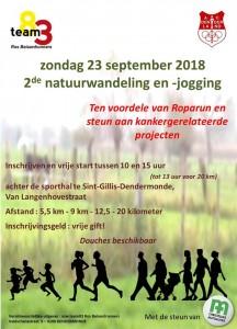affiche 2de natuurwandeling en jogging