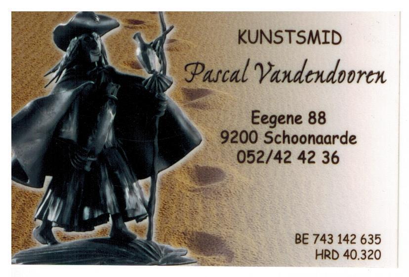 Kunstsmid Pascal Vandendooren