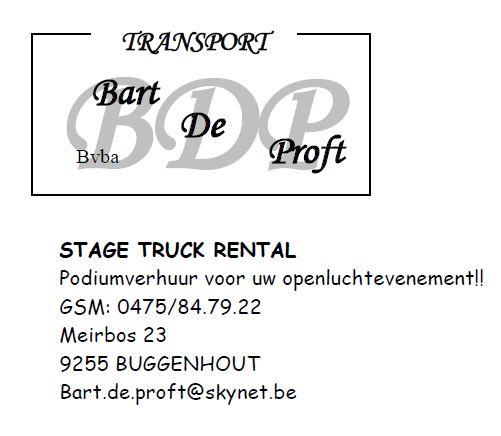 transport Bart De Proft