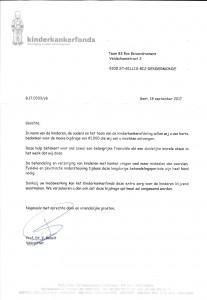 bedankingsbrief kinderkankerfonds