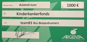 cheque Kinderkankerfonds