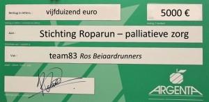 cheque Roparun